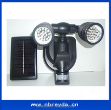 Solar Powered Motion Sensor Hallway Light with Dual Head 19 LED