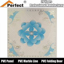 Hot stamp foil 595mm square pvc ceiling and wall board