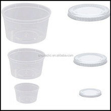 1oz 2oz 3oz 4oz 5oz 6oz 8oz Clear Plastic Chutney Cups With Lids Sauce Pots Deli Pots pudding Desserts cup wholesale factory