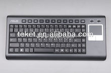 Slim 2.4G Wireless Keyboard with Touchpad and USB Receiver K8-UI(10): International/US version