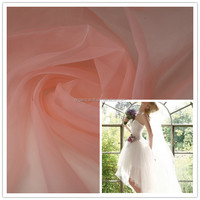 Personalised foldable design wedding dress and dance costume organza fabric wholesale