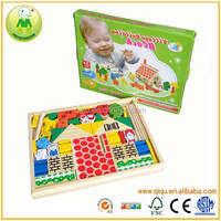 Hot New Product For 2015 Farm Building Wooden Block Sets