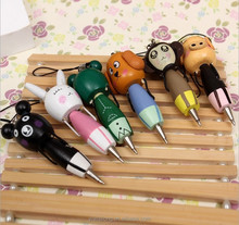 new design animal shape wooden material ballpoint pen