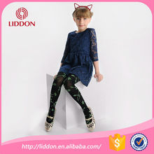 Hot style children girl in nylon pantyhose fabric with jacquard process