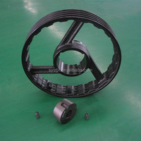 Casting right direction rotate casting iron high strength taper bushing belt pulley
