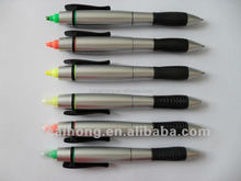 combo highlighter & ball pen 2 in 1 promotional gift CH6201 ,OEM welcome