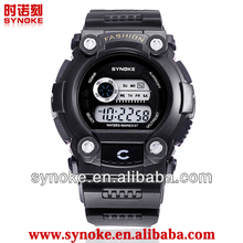 New Classic Design Mens Black Face outdoor exercise Watch