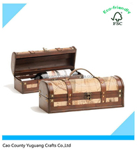 Christmas Gift Use Wooden Box,The True Fabrications Milano Faux Leather Wooden Wine Box-Single Bottle Wine Holder
