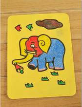 15.5*20.5cm lovely manual Sand painting for children