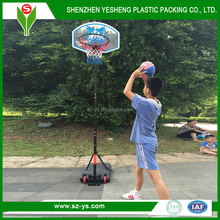 Hot sale adjustable plastic basketball stand,backboard and base