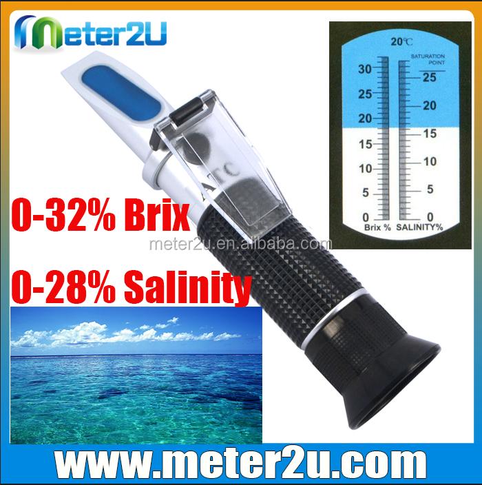 Ucuz brix ve tuzluluk refraktometre (0-28salinity, 0-32brix) süreci refraktometre