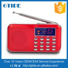 Red portable better air band radio transmitter price Y-896 LED light retro radio