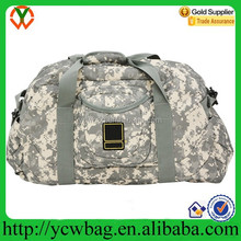 Military camouflage 600D army duffel bag
