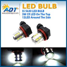H11 LED BULBS SILVER BODY 5630 12+1x3W HIGH POWER CHIPS BRIGHT WHITE H11 Fog Light