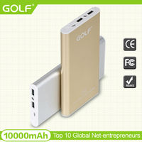 ultra-thin 10000mAh power bank portable charger with Dual USB outputs