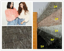 new fashion Snow fox wool dyeing sweater cloth garment soft Comfortable fabric 100%polyester
