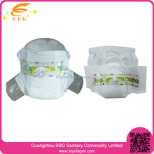 stocklot goods in china baby diaper disposable diapers with PE backsheet