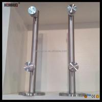 HR1300V-20 new design exterior stair handrail for frameless glass balcony railing