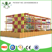 Amusement Park Rope Courses wooden wall climb rope wall climb high rope adventure