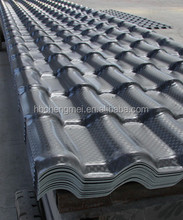ASA coated spanish PVC roof tile/ synthetic resin roof tile