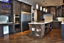 Unique Australia Modern Solid Wood Kitchen Cabinet Design For Green Villa Projects Construction/Antique Kitchen Cabinet