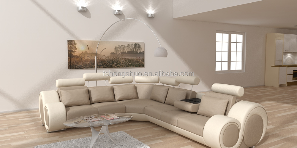 High end modern china living room furniture sectional sleeping corner