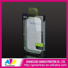 Custom clear PVC presentation box for high quality phone cover packing