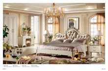 2015# new classical white bedroom sets
