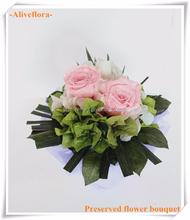 Buquê de flores de rosa por atacado para o casamento