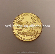 1 oz replica tungsten gold plated coin from China