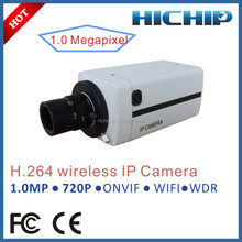 Hichip 720P Box CCTV Camera Wifi Network, HD WDR IP Camera support 32GB SD Card
