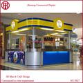 de fábrica de bajo precio de china diseño nuevo mall quiosco de comida para café snack de yogur de la tienda