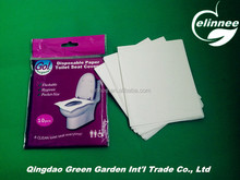 virgin wood pulp or recycled pulp flushable disposable toilet seat paper cover for travelling