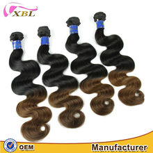 XBL beautizan 100% virgin full cuticle factory price thick bottom Peruvian color 1BT27 loose weave extention