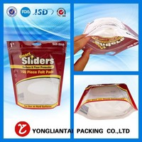 laminated plastic clear window bottom gusset food storage bags for jerky