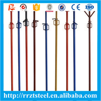 galvanized building props 0.6m--5.5m steel props 23 heavy duty shoring pole made in China