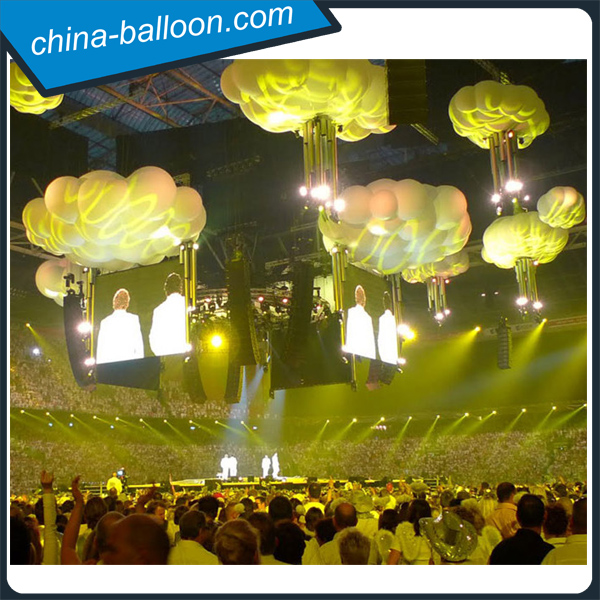 Concerts decoration inflatable cloud balloon inflatable for Balloon cloud decoration