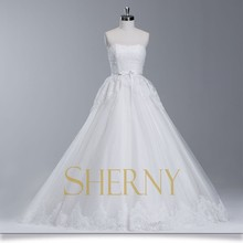 Sherny Bridals New Designers High Quality See Through Corset Wedding Dress