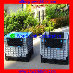 Heavy duty plastic fruit and vegetable transport pallet box