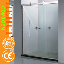HZ6807 out door shower room common glass door shower enclosures and square frameless 2 sided shower enclosure