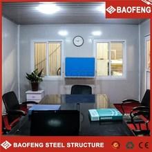 conveniente para construir prefabricados quiosco de fibra de vidrio de las casas y villas