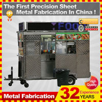 2014 professional customized mobile food cart trailer