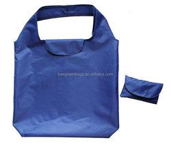 Integrated velcro closure design 190T hot sale fold up polyester bag