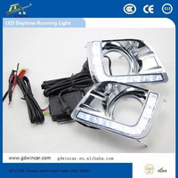 High brightness Low power consumption led flood light led car light for Toyota Land Cruiser Prado (13-14)led drl auto light