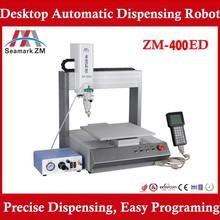 High precision ZM-400ED aotomatic glue dispenser robot, 3 axis glue dispenser for pcb/ led production line
