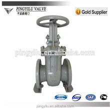 GOST PN16 oil water gas flange carbon steel rising stem russia gate valve buyer