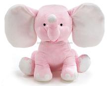 Cute Plush Colorful Elephant Soft Stuffed Wild Animal Toy With Big Ears,Pink Bear