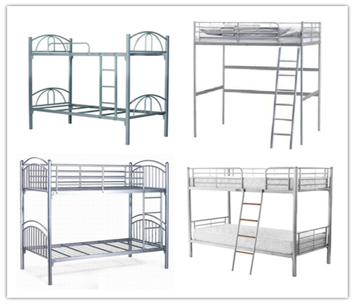 Chinese modern industrial furniture home twin over full bunk bed