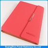 2016 loose-leaf notebook pu leather diary covers with magnetic closure