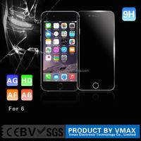 New hot!! 2D/0.26mm/0.33mm anti-fingerprint anti-broken clear tempered glass screen protector for IPhone 6s/6s welcome OEM/odm